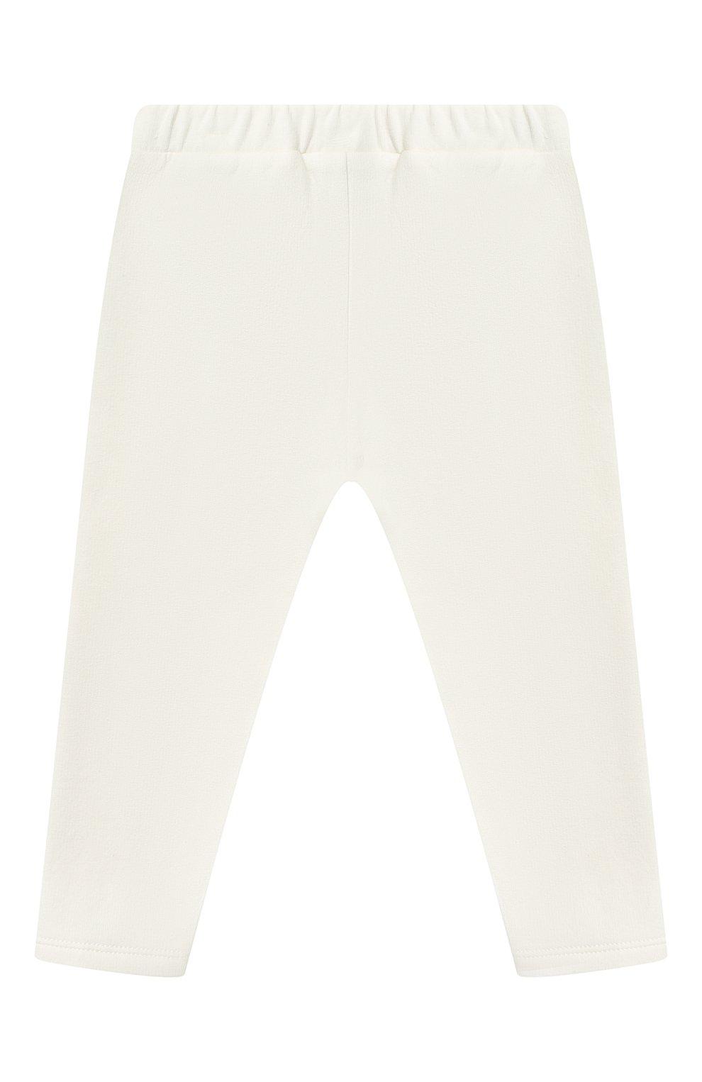 Детский комплект из свитшота и брюк MONCLER белого цвета, арт. F2-951-8M734-10-809EH   Фото 4