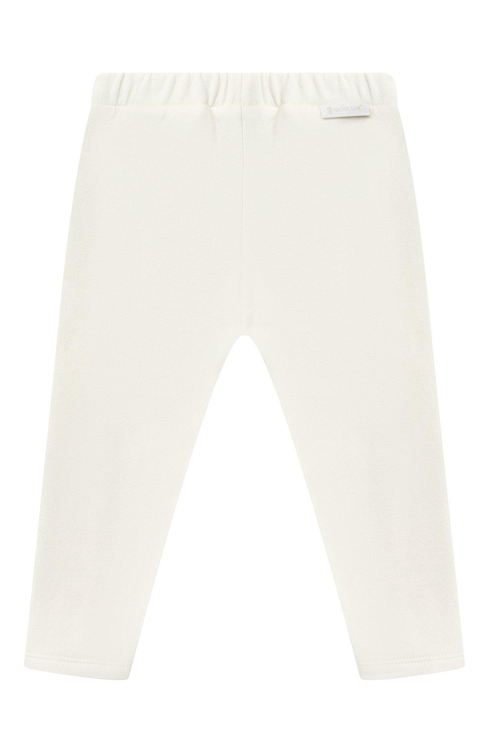 Детский комплект из свитшота и брюк MONCLER белого цвета, арт. F2-951-8M734-10-809EH   Фото 5