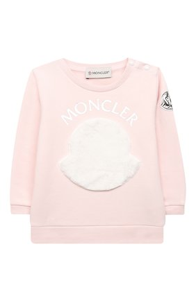 Детский комплект из свитшота и брюк MONCLER светло-розового цвета, арт. F2-951-8M734-10-809EH | Фото 2