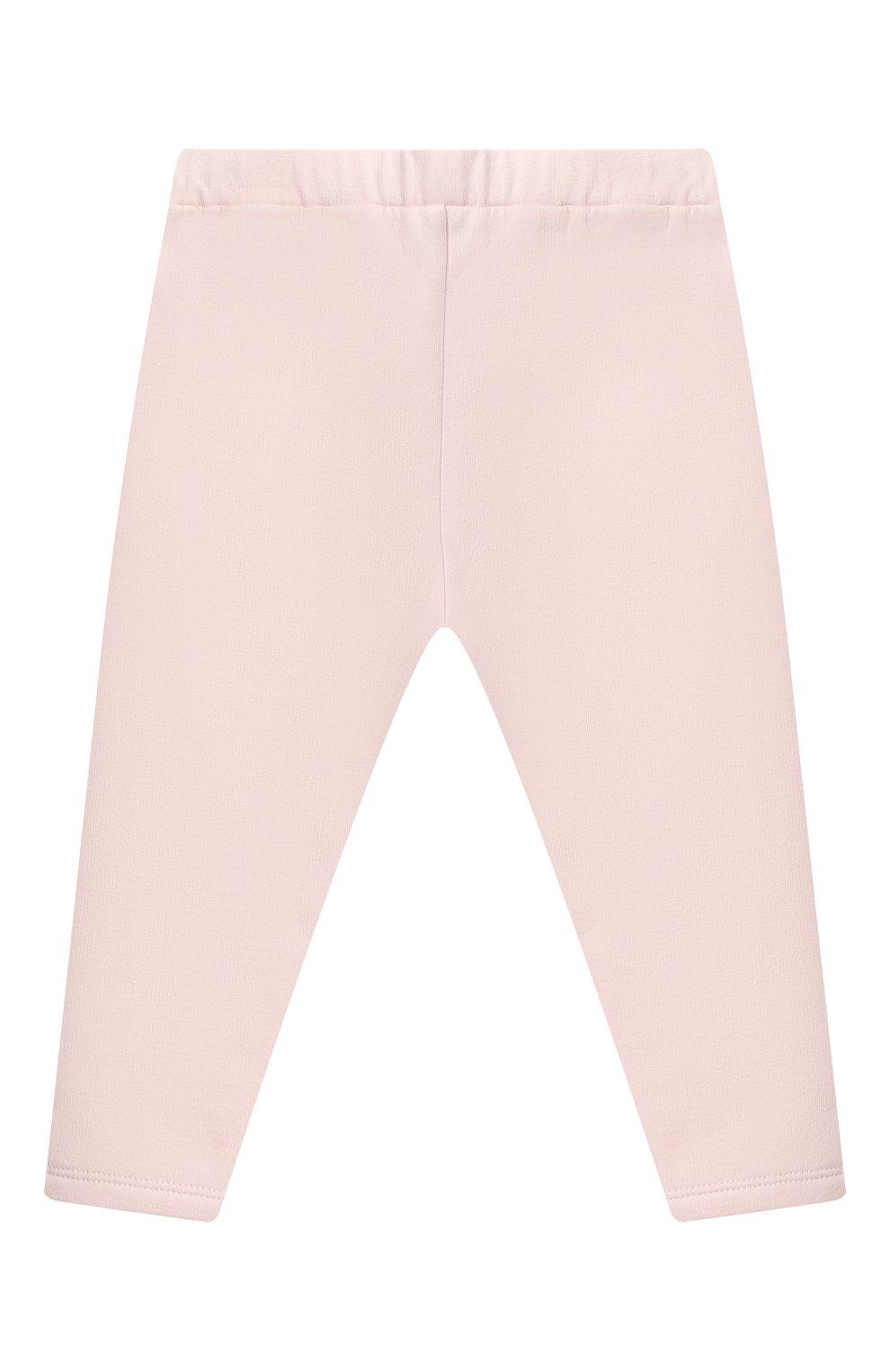 Детский комплект из свитшота и брюк MONCLER светло-розового цвета, арт. F2-951-8M734-10-809EH | Фото 4