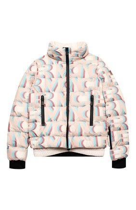 Детская пуховая куртка MONCLER розового цвета, арт. F2-954-1A50E-10-54AKZ/12-14A | Фото 1