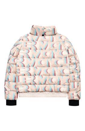 Детская пуховая куртка MONCLER розового цвета, арт. F2-954-1A50E-10-54AKZ/12-14A | Фото 2