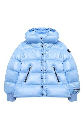 Детского пуховая куртка MONCLER голубого цвета, арт. F2-954-1A534-10-68950/8-10A | Фото 1