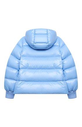 Детского пуховая куртка MONCLER голубого цвета, арт. F2-954-1A534-10-68950/12-14A | Фото 2