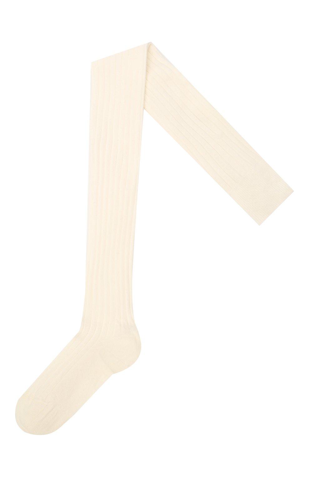 Детские хлопковые колготки FALKE белого цвета, арт. 13642 | Фото 1