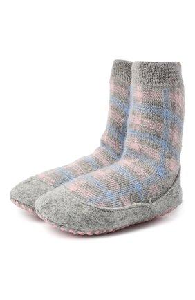 Детские шерстяные носки FALKE серого цвета, арт. 12922. | Фото 1
