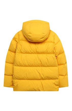 Детский пуховая куртка WOOLRICH желтого цвета, арт. CFWK0U0130MR/UT2420 | Фото 2
