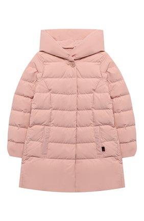 Детское пуховое пальто WOOLRICH розового цвета, арт. CFWK0U0106FR/UT0573/8-16 | Фото 1