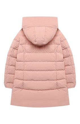 Детское пуховое пальто WOOLRICH розового цвета, арт. CFWK0U0106FR/UT0573/8-16 | Фото 2