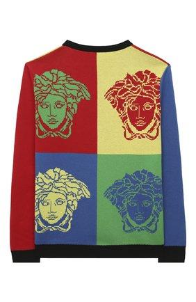 Детский хлопковый пуловер VERSACE разноцветного цвета, арт. YD000271/A236527/4A-6A | Фото 2