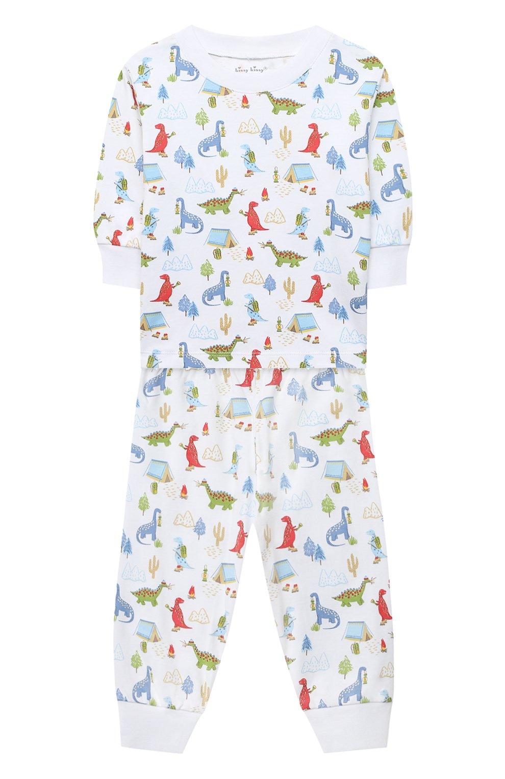 Детский хлопковая пижама KISSY KISSY разноцветного цвета, арт. KB604619I | Фото 1