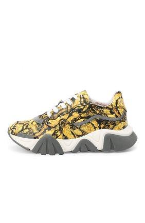 Детские кожаные кроссовки VERSACE золотого цвета, арт. YHX00029/YB00376/34-40 | Фото 2