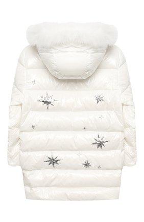 Детское пуховое пальто YVES SALOMON ENFANT белого цвета, арт. 21WEM011LGD0BR/12-14 | Фото 2