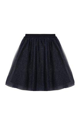 Детская юбка IL GUFO синего цвета, арт. A20GN151H4001/2A-4A | Фото 1