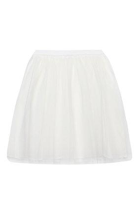 Детская юбка IL GUFO белого цвета, арт. A20GN151H4001/5A-8A | Фото 1