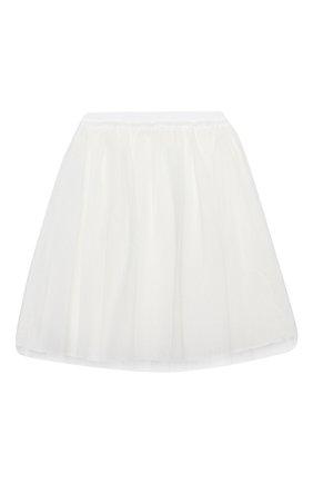 Детская юбка IL GUFO белого цвета, арт. A20GN151H4001/5A-8A | Фото 2