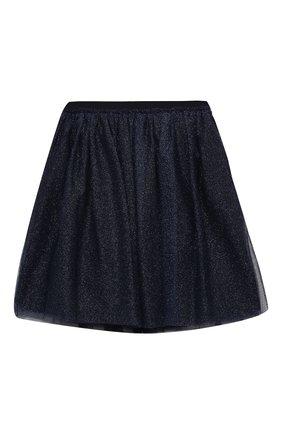 Детская юбка IL GUFO синего цвета, арт. A20GN151H4001/5A-8A | Фото 1