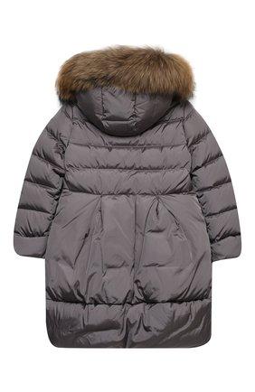 Детское пуховое пальто IL GUFO серого цвета, арт. A20GP260N0031/10A-12A | Фото 2