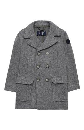 Детское пальто из хлопка и шерсти IL GUFO серого цвета, арт. A20GP268W0048/2A-4A | Фото 1