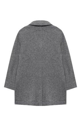 Детское пальто из хлопка и шерсти IL GUFO серого цвета, арт. A20GP268W0048/2A-4A | Фото 2