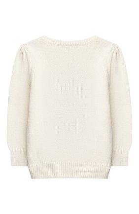 Детский хлопковый пуловер RALPH LAUREN белого цвета, арт. 310800176 | Фото 2