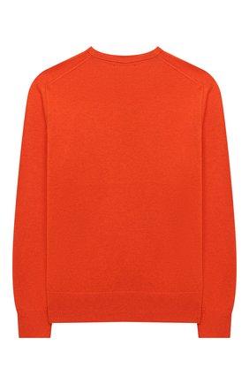 Детский хлопковый пуловер POLO RALPH LAUREN оранжевого цвета, арт. 323799887 | Фото 2