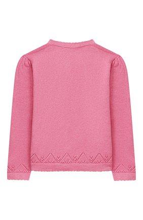 Детский хлопковый кардиган POLO RALPH LAUREN розового цвета, арт. 311799809   Фото 2