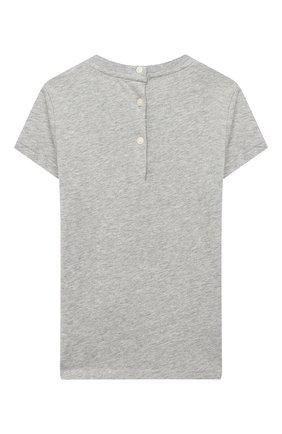 Детский хлопковая футболка RALPH LAUREN серого цвета, арт. 310802624 | Фото 2