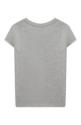 Детская хлопковая футболка POLO RALPH LAUREN серого цвета, арт. 311802624 | Фото 2