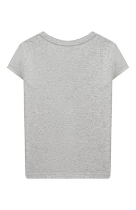 Детская хлопковая футболка POLO RALPH LAUREN серого цвета, арт. 312802624 | Фото 2