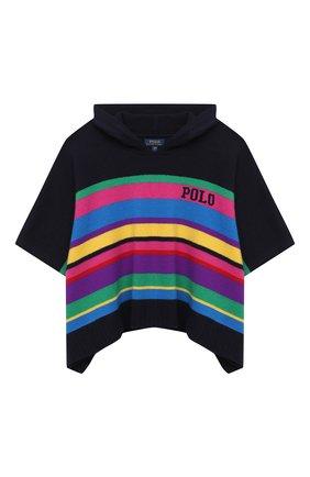 Детское шерстяное пончо POLO RALPH LAUREN разноцветного цвета, арт. 313799875 | Фото 1