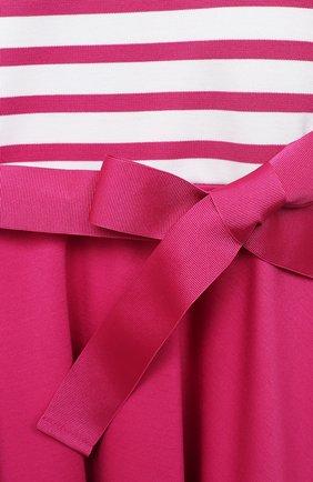 Детское платье с поясом POLO RALPH LAUREN розового цвета, арт. 311720091 | Фото 3 (Рукава: Короткие; Случай: Повседневный; Материал внешний: Синтетический материал; Ростовка одежда: 2 года | 92 см)