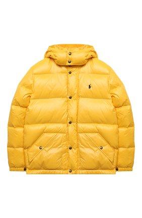 Детский пуховая куртка POLO RALPH LAUREN желтого цвета, арт. 323795538 | Фото 1