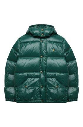 Детский пуховая куртка POLO RALPH LAUREN зеленого цвета, арт. 323795538 | Фото 1