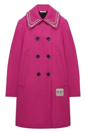 Детское двубортное пальто N21 фуксия цвета, арт. N214C1/N0084/N21J28F | Фото 1