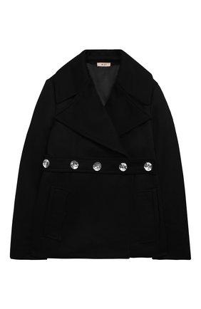 Детское пальто N21 черного цвета, арт. N214BW/N0082/N21J23F | Фото 1