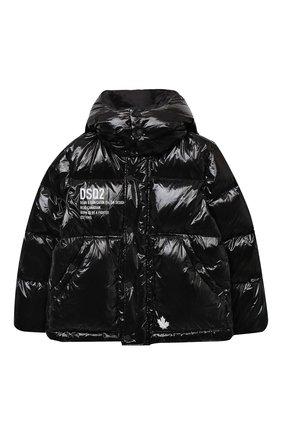 Детского пуховая куртка DSQUARED2 черного цвета, арт. DQ04BJ-D00ZJ | Фото 1