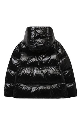 Детского пуховая куртка DSQUARED2 черного цвета, арт. DQ04BJ-D00ZJ | Фото 2