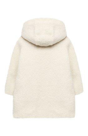 Детское пальто с капюшоном ERMANNO SCERVINO бежевого цвета, арт. 47I CP17 VINV/4-8 | Фото 2