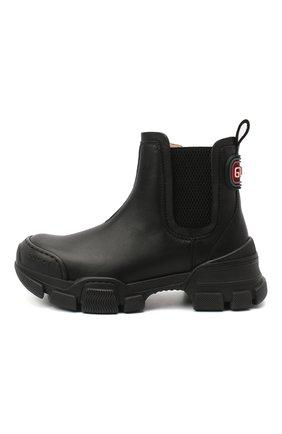 Детские кожаные ботинки GUCCI черного цвета, арт. 629739/DTN50 | Фото 2