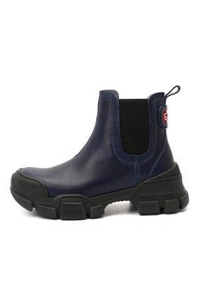 Детские кожаные ботинки GUCCI синего цвета, арт. 629739/DTN50 | Фото 2