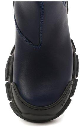 Детские кожаные ботинки GUCCI синего цвета, арт. 629739/DTN50 | Фото 4 (Материал внутренний: Натуральная кожа)