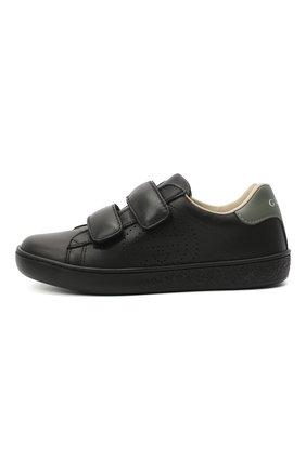 Детские кожаные кеды GUCCI черного цвета, арт. 630286/BLN70 | Фото 2