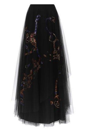 Женская юбка RALPH LAUREN черного цвета, арт. 290823230 | Фото 1