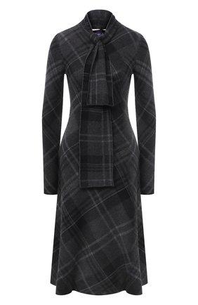 Женское кашемировое платье RALPH LAUREN темно-серого цвета, арт. 290820300 | Фото 1