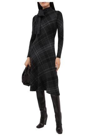 Женское кашемировое платье RALPH LAUREN темно-серого цвета, арт. 290820300 | Фото 2