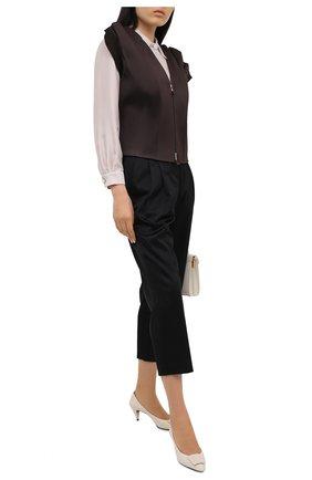 Женский жилет GIORGIO ARMANI коричневого цвета, арт. 0SHGG0GJ/T01QB | Фото 2