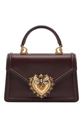 Женская сумка devotion small DOLCE & GABBANA бордового цвета, арт. BB6711/AV893 | Фото 1