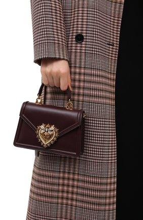 Женская сумка devotion small DOLCE & GABBANA бордового цвета, арт. BB6711/AV893 | Фото 2