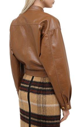 Женский кожаный бомбер GIVENCHY бежевого цвета, арт. BW00A260E9 | Фото 4